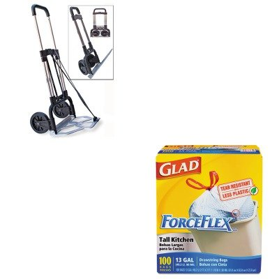 KITCOX70427STB390009CHR - Value Kit - Stebco Portable Slide-Flat Cart (STB390009CHR) and Glad ForceFlex Tall-Kitchen Drawstring Bags (COX70427)