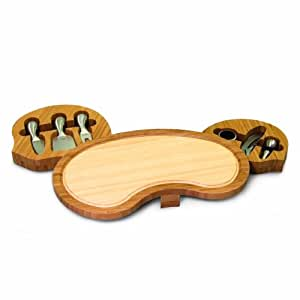 Picnic Time Mariposa Bamboo 15-Inch Cheese Board/Tool Set