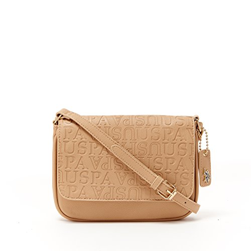 US Polo ASSN Designer Handbags  Women s Heather Embossed Crossbody Bag  (Tan) - (Multiple Color Available) - Buy Online in UAE.  29103eeb228bc