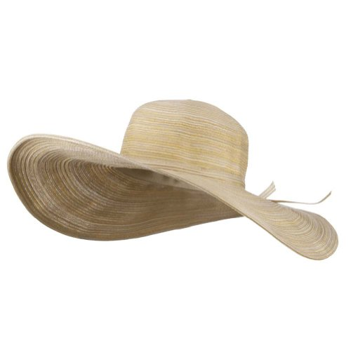 E4hats Hat Metallic - Jeanne Simmons UPF 40+ Metallic Blend Wide Brim Hat - Natural OSFM