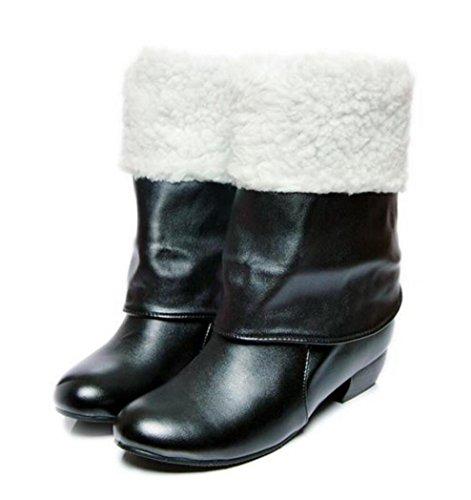 CYGG Sra. Martin Boots / Plus Velvet Warm / Botas largas de mujer de gran tamaño 40.41.42.43 black