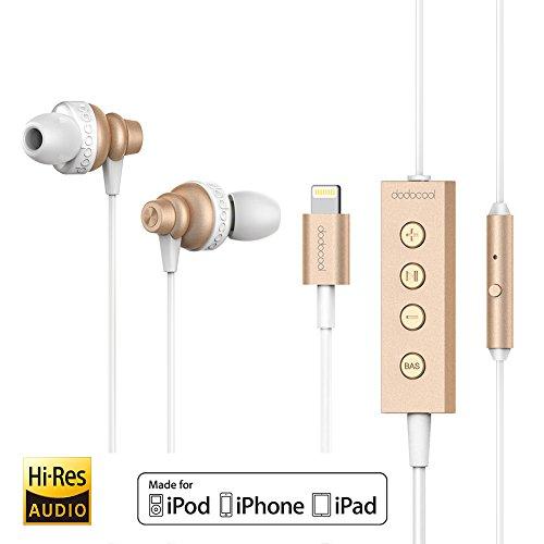 dodocool  Lightning Earphones Hi-Res Headphones with Mic & R