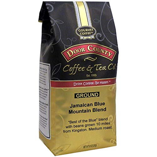 Door County Coffee, Jamaican Blue Mountain Blend, Ground, 10oz Bag