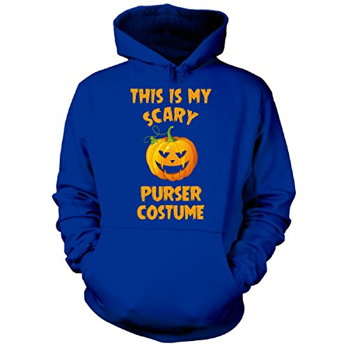 Purser Costume (This Is My Scary Purser Costume Halloween Gift - Hoodie Royal 3XL)