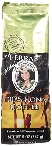 Coffee Ground Gold - 100% Kona Hawaiian Mountain Gold Coffee (8 oz. ground)