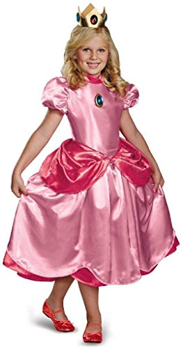 Princess Peach Deluxe Adult Costumes (Princess Peach Deluxe Costume - Large)