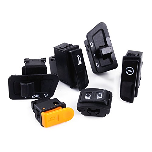 6pcs Set Turn Signal Headlight Ignition Start Switch Dimmer Horn Button fit for GY6 ()