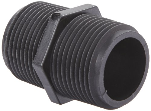 Banjo NIP100-SH Polypropylene Pipe Fitting, Short Nipple, Schedule 80, 1
