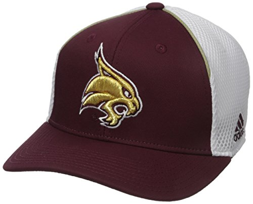adidas NCAA Texas State Bobcats Adult Men Spring Game Structured Adjustable Hat, One Size, Maroon