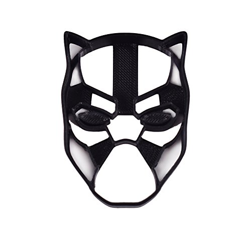 Black Panther Cookie Cutter & Fondant Cutter Classic Superhero Black Logo for Kids and Parents - Perfect for Cookies Cake Decorating Cupcake Toppers (1 Medium 2'' x 3'') by Bakelights