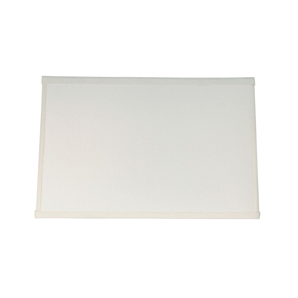 Cream Rectangle Lamp Shade with Spider Assembly
