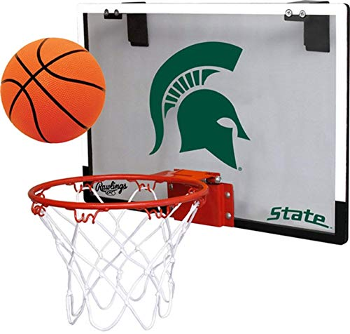 Rawlings Michigan State University Spartans Indoor Basketball Hoop Set - Over The Door Game