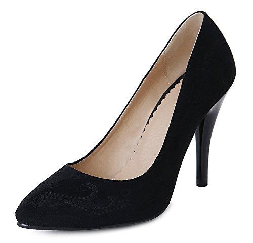 Noir Formel Haut Talon Chaussures Escarpins Aisun Basse Femme à Employée AwxqcS4gO