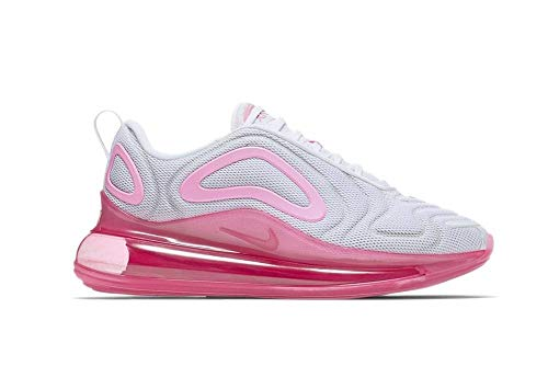 Nike Women's Air Max 720 White/Pink Rise/Laser Fuchsia Mesh Running Shoes 8.5 M US (Womens Nike Air Max 2014 Running Shoes)