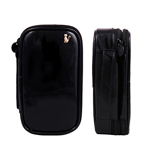 Travelmall Cosmetic Organizer Portable Leather