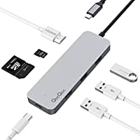 QacQoc GN30C USB C HUB Aluminum Multiport Type C Adapter