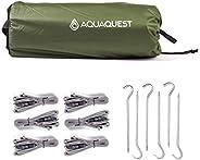 Aqua Quest Safari Tarp - 100% Waterproof Lightweight SilNylon Bushcraft Camping Shelter - 10x7, 10x10, 13x10,