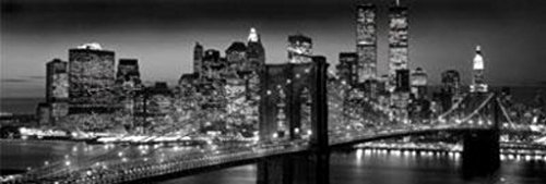 (New York Manhattan Black and White Panorama Photo Art Print Poster 36x12)