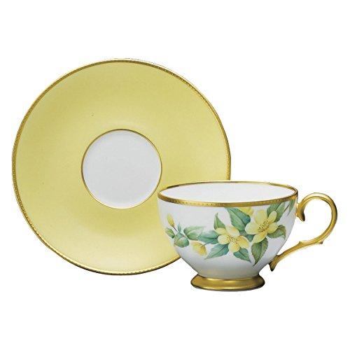 ノリタケ 大和路の花 ティーコーヒー碗皿(山吹) B01N079HXN