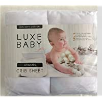 2-Pack Luxe Baby 100% Cotton Baby Crib Sheet Set