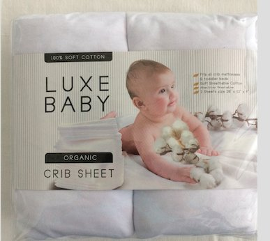 (2 Pack Baby Crib Sheet Set by Luxe Baby – 100% Soft Jersey Cotton Fitted Sheet– Perfect Baby Shower Gift For Boys or Girls – Fits All Baby Crib Mattresses & Toddler Beds)