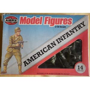 Airfix 51552 Scale 1 32 American Infantry Figures Series 2 Vintage Anni 70