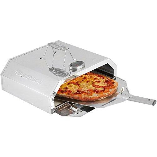 Blaze Box BBQ Pizza Oven with Temperature Gauge for Outdoor Garden...