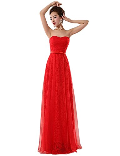 Rot Drasawee Damen Drasawee Damen Kleid Kleid Rot Drasawee Empire Empire 1Paqww