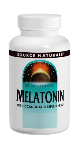 Source Naturals Melatonin,1.0 Milligram, Orange Flavor, 100 Lozenges. Pack of 2 Bottles.