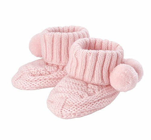 - Mud Pie Pom Pom Booties Cotton Baby Products (Pink)