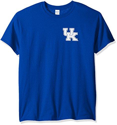 - NCAA Kentucky Wildcats Adult NCAA Stripe Nation Short Sleeve, Royal, Large