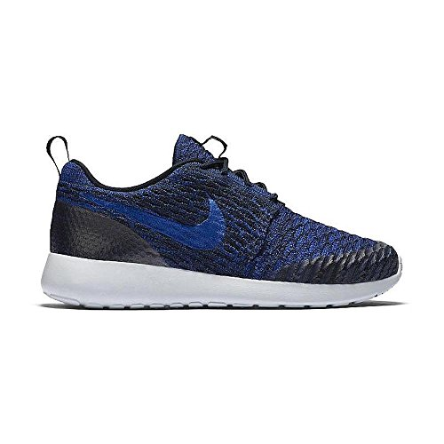 Nike Womens Roshe One Flyknit Hardloopschoenen Azul Oscuro (drk Obsdn / Rcr Bl-dp Ryl Bl-pr)