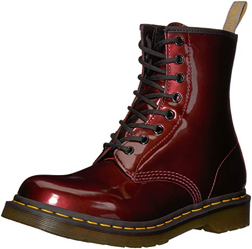 Mujer para W 601 Botines Chrome Martens Rojo 1460 Vegan Oxblood Dr q7BwP