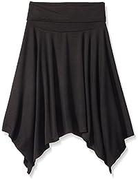 Girls' Big Knit Foldover Waistband Skirt with Hanky Hem