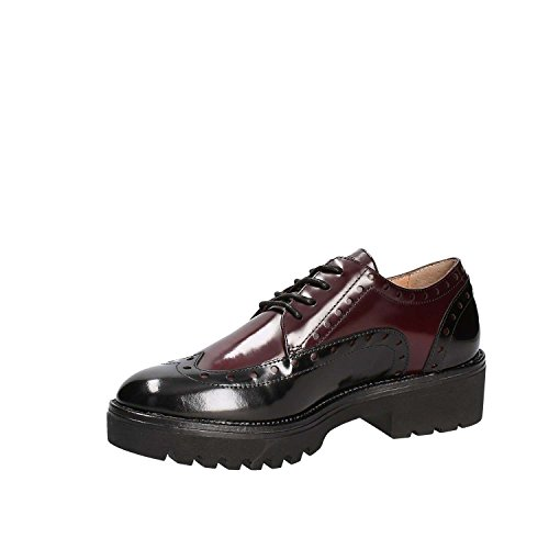 off Stonefly Brush Nero Scarpe Wine Black 2 Oxford Stringate Perry Donna qpprAnft