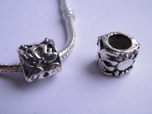 2 Breloques Charms Perle Style Pandora