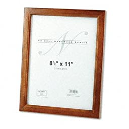 Nudell - 2 Pack - Solid Oak Hardwood Frame 8-1/2 X 11 Walnut Finish \