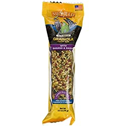 Sun Seed Vita Prima Grainola Treat Bar Banana Raisin Bird, Large, 2.5 Oz (70g)