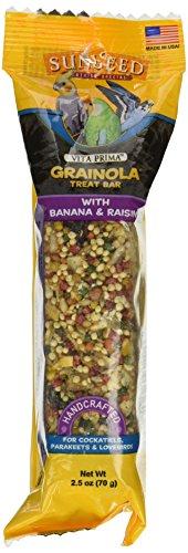 Sun Seed Vita Prima Grainola Treat Bar Banana Raisin Bird, Large, 2.5 Oz (Grainola Bird)