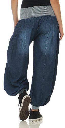Denim Aladin Pump Unica Blu Taglia 6258 Donna Malito Pantaloni 4Zxwdvx