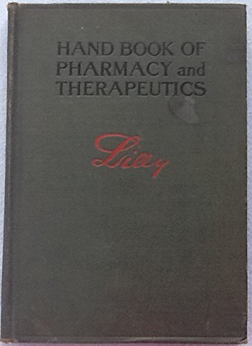 hand-book-or-pharmacy-and-therapeutics-lilly-sixth-revision