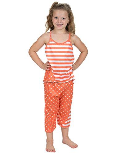 Laura Dare Girls Tangerine Dreams Racerback Capri Pajamas