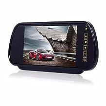 "UBuyit Monitor+Wireless 7"" LCD Mirror Car Reverse Rear View Backup Camera Night Vision"