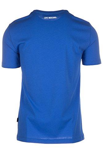 Love Moschino Herren T-Shirt Kurzarm Kurzarmshirt runder Kragen blu