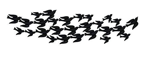 Woodland Imports Flock of Flying Birds Carved, Metal