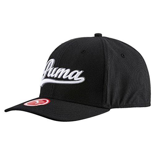 PUMA Golf Men's Script Fitted Cap - US M/L - Black/White/Quiet Shade