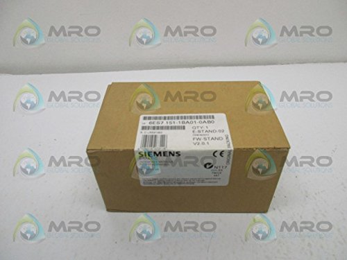SIEMENS SIMATIC 6ES7151-1BA01-0AB0 INTERFACE MODULE PROFIBUSFACTORY SEALED by SIEMENS SIMATIC