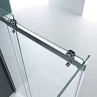 doporro Cabina de ducha diseño Ravenna17, 90x125x195cm, mampara de vidrio de seguridad transparente, con puerta corredera y revestimiento en ambos lados: Amazon.es: Bricolaje y herramientas