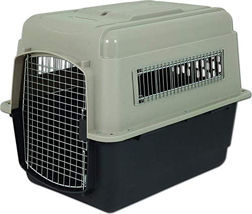(Petmate Ultra Vari Dog Kennel, Heavy-Duty, No Tool Assembly, 4 Sizes, Taupe/Black)