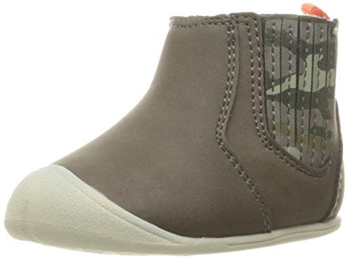 Carter's Every Step Stage 1 Boy's Crawling Shoe, Connor, Grey/Camo, 3 M US Infant